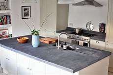 graue arbeitsplatte küche countertop with concrete look kitchen countertops made