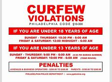 are curfews legal