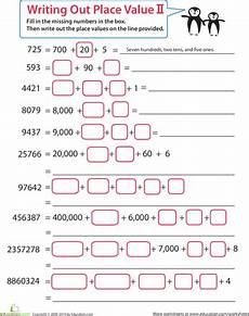 place value chart worksheets 3rd grade 5068 practice place value with images place value worksheets