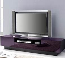 Tv Lowboard Design - top design lowboard schwarz glas lila tv rack kommode