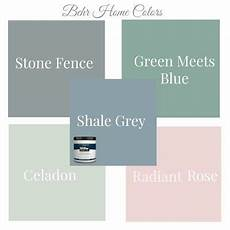 behr stone fence green meets blue celadon radiant rose shale gray in 2019 green paint