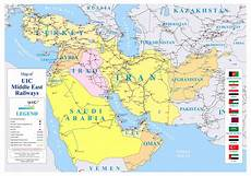 new middle east railways map released by rame uic