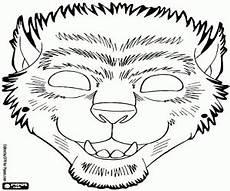 Gratis Malvorlagen Werwolf Ausmalbilder Werwolf Halloweenmaske Zum Ausdrucken