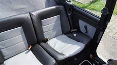 golf mk1 cabriolet artificial leather seat covers in black