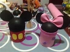 dulceros con botes de leche de mickey mouse como hacer dulcero de minnie mouse con galones de