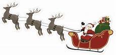 santa sleigh with reindeer print cut file snap click