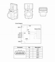 motor repair manual 2008 hyundai santa fe parking system hyundai santa fe parking assist sensor components and components location rear parking