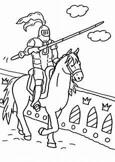Malvorlage Ritterburg Mit Drachen Kostenlose Malvorlage Ritter Und Drachen Ritter Mit Lanze