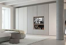 Contemporary Style Sectional Lacquered Wooden Wardrobe