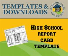 high school report card template free highschool report card templates homeschool giveaways