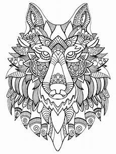 ejemplo dibujado mano de la cabeza lobo garabato