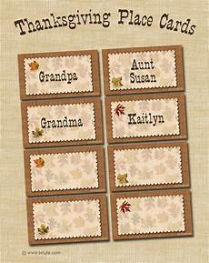 bnute productions free printable autumn place cards