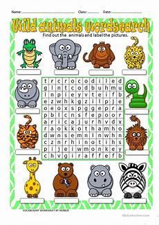 animal word search worksheets 14374 animals wordsearch worksheet free esl printable worksheets made by teachers