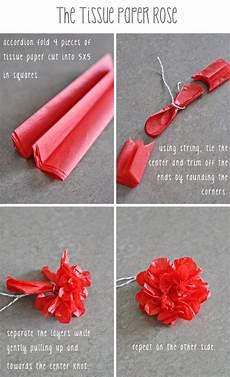 Papierblumen Basteln Anleitung - tissue paper diy flowers paper crafts diy paper