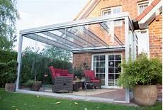 Terrassen 220 Berdachung Flachdach Mit Glas Modern
