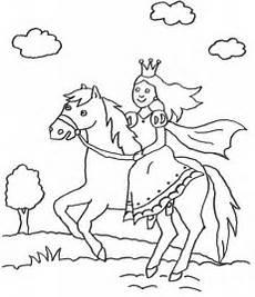 kostenlose malvorlage prinzessin prinzessin auf pferd zum