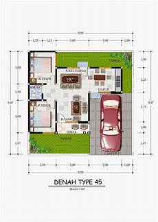 Minimalist House Plan Design Type 45 Info Tazbhy