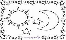 Malvorlage Sterne Und Mond Bildkarten Winter Und Weihnachten Teddylingua