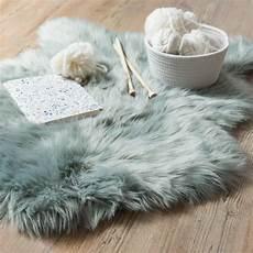 fellimitat teppich fellimitat teppich blau grau 60x90 teppich blau grau