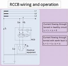 wiring diagram of rccb residual current circuit breaker electrical engineering centre