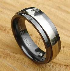 men s black wedding ring in a finish love2have in