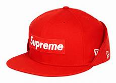 supreme cap supreme box logo fleece new era fitted cap hypebeast