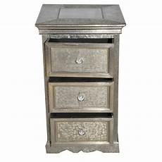 White 3 Drawer Chest Of Drawers by Brushed White Metal 3 Drawer Chest Of Drawers Iris