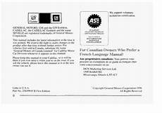 free online car repair manuals download 1996 cadillac deville seat position control 1997 cadillac seville owners manual