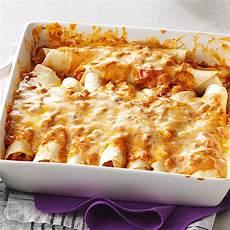 simple creamy chicken enchiladas recipe taste of home