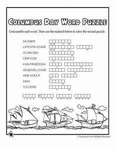 columbus day worksheets for kids columbus day word puzzle classroom jr columbus day happy