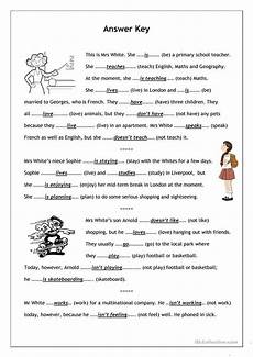 grammar worksheets simple present tense 24967 no frills worksheet for all ages present simple vs present continuous 1 reading