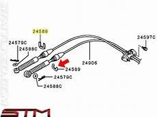 install shift cable on a 2003 mitsubishi galant stm oem mitsubishi shifter cable bracket clip evo viii ix mr453669
