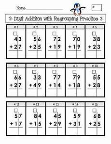 double digit addition and subtraction with regrouping 2 homework students and math
