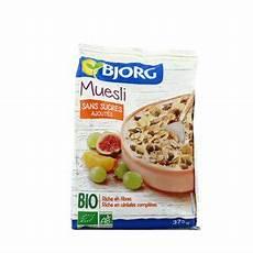 muesli sans sucre ajouté bjorg muesli bio sans sucres ajout 233 s 375g houra fr