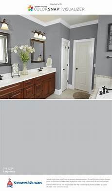 sherwin williams paint lazy gray on top and i found this color with colorsnap 174 visualizer for iphone