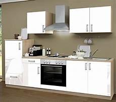 küchenzeile mit herd k 252 chenzeile 270 cm komplett k 252 che lack wei 223 mit