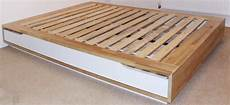 used ikea mandal bed frame with storage birch white in