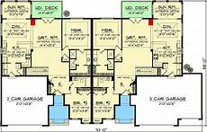 duplex house plans with garage plan 89296ah duplex with country flair duplex floor