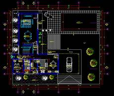 autocad 2d plans for houses house with garden and pool 2d dwg plan autocad designs cad