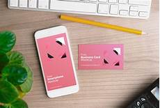 iphone name card template iphone with business card mockup mockupworld