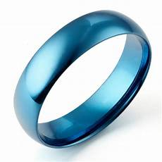 anywords men blue wedding anniversary bands dome
