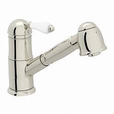 rohl kitchen faucets rohl a3410lppn 2 polished nickel country kitchen single handle kitchen faucet with pull out