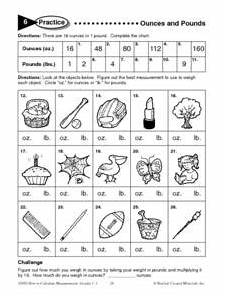 ounces and pounds worksheets ounces and pounds worksheet for 3rd 4th grade lesson planet