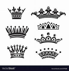 Crowns Set Royalty Free Vector Image Vectorstock
