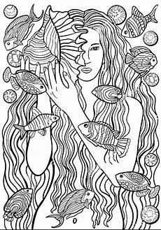 Ausmalbilder Erwachsene Meer Ausmalbilder F 252 R Erwachsene Meerjungfrau Ausmalbilder