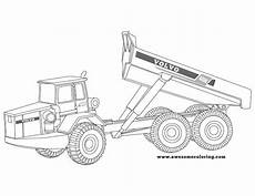 volvo articulated truck coloring page or print