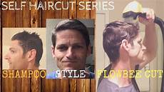 how to flowbee cut your own hair shower style routine tutorial youtube