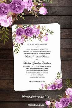 printable wedding invitation blossoms make your