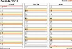 Malvorlagen Querformat Xls Vorlage 6 Kalender 2018 F 252 R Excel Querformat 4 Seiten