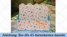 karteikasten selber basteln box f 252 r a5 karteikarten basteln anleitung mit stin